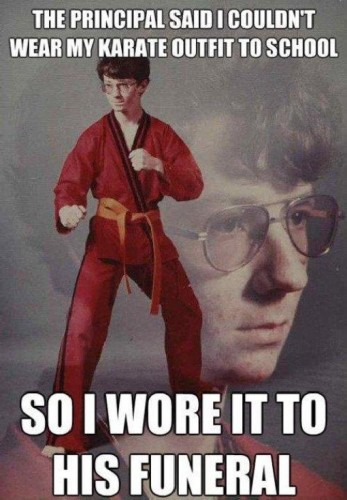karate outfit to school