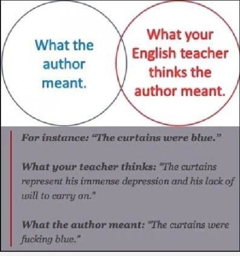 what the author meant vs your english teacher 469x500 what the author meant vs your english teacher