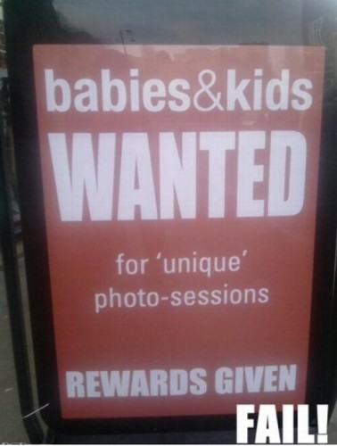 babies and kids wanted