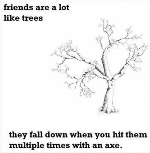 friends are a lot like trees