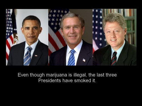 the last three president have smoked 500x375 the last three president have smoked
