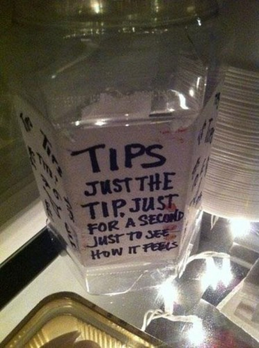 tips – just the tip, just for a second