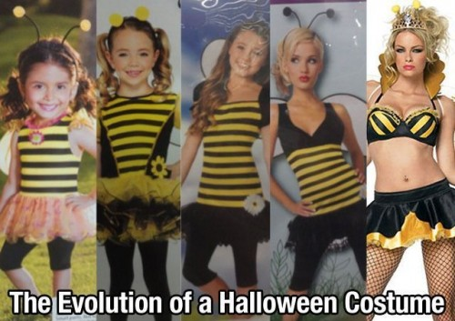 the evolution of a halloween costume 500x353 the evolution of a halloween costume