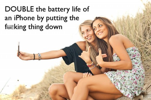 Double the life of your iphone battery