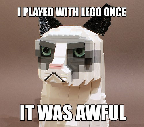 I played with lego once it was awful I played with lego once, it was awful
