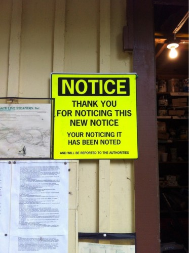 Notice – Thank you for noticing this new notice