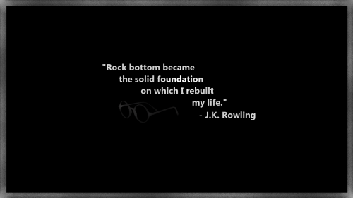 Rock bottom became the solid foundation on which I rebuild my life JK Rowling 500x281 Rock bottom became the solid foundation on which I rebuild my life   JK Rowling