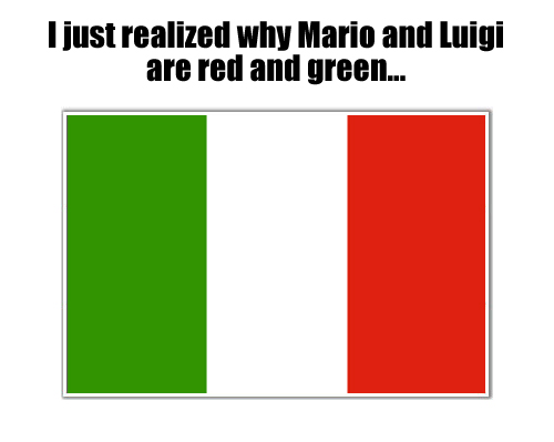 Why mario and luigi are red and green Why mario and luigi are red and green