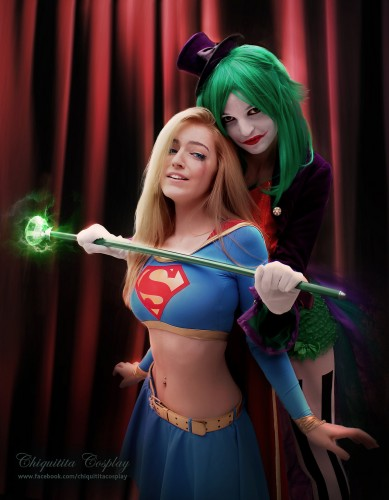 lady joker captures supergirl by chiquitita cosplay 389x500 lady joker captures supergirl by chiquitita cosplay