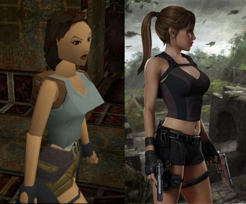 laura croft then and now 500x415 laura croft, then and now