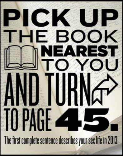 pip up the book and turn to page 45
