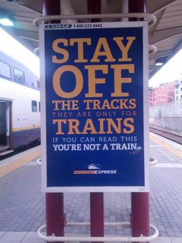 stay off the tracks 374x500 stay off the tracks