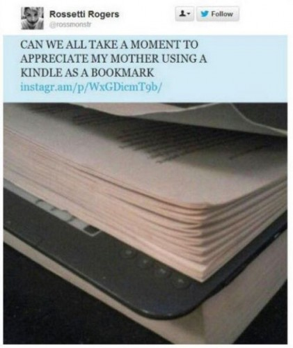 using a kindle as a bookmark 421x500 using a kindle as a bookmark