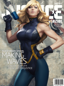 Black Canary 2 225x300 justice magazine covers