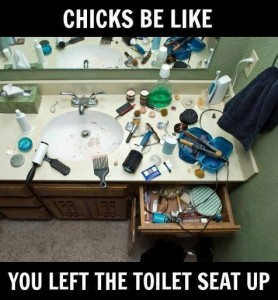 Chicks be like you left the toilet seat up 278x300 Chicks be like, you left the toilet seat up