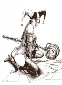Steampunk Harley Quinn by odingraphics 218x300 Steampunk Harley Quinn by odingraphics