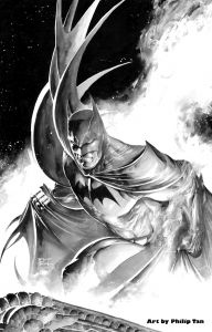 batman lunging from flame 192x300 batman lunging from flame