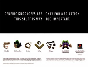generic knockoffs are okay for medication gaming advertisement 300x230 generic knockoffs are okay for medication   gaming advertisement