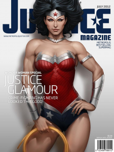 wonder woman 225x300 justice magazine covers