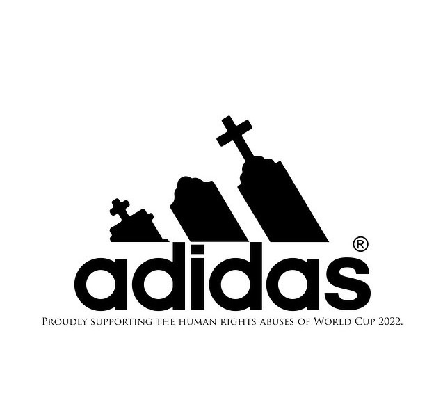 Adidas   supporting human rights abuses