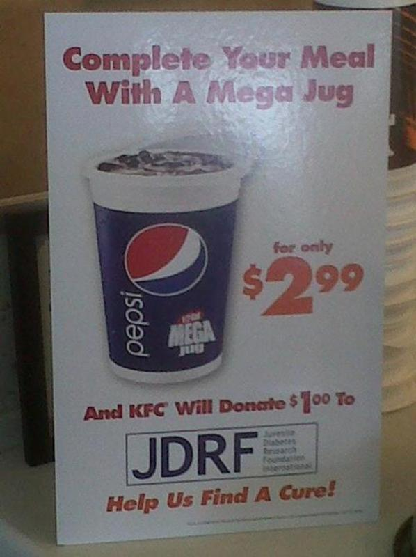 Complete your meal with a mega jug find a cure Complete your meal with a mega jug   find a cure
