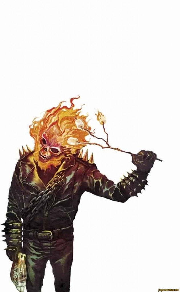 Ghost Rider Cooking Marshmellows 631x1024 Ghost Rider Cooking Marshmellows