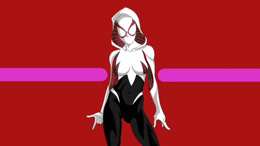 Spider Gwen with mask on 1024x576 Spider Gwen   with mask on