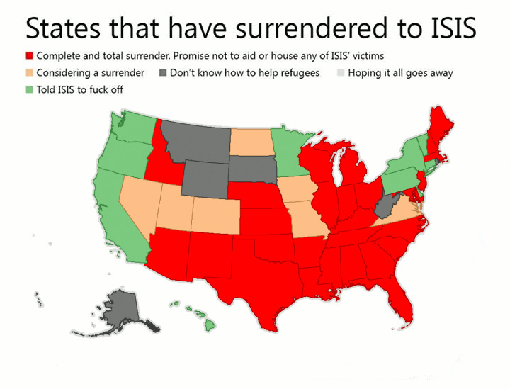 States that have surrendered to ISIS States that have surrendered to ISIS
