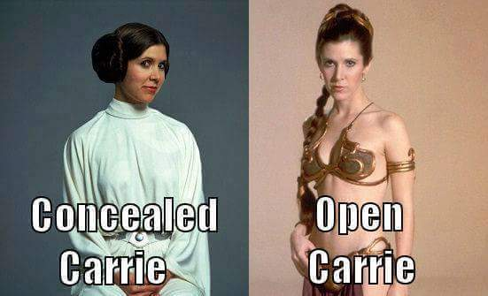 concealed carrie vs open carrie concealed carrie vs open carrie
