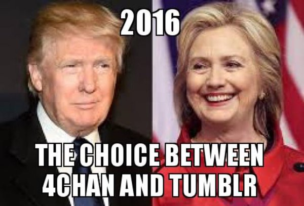 2016 The choice between 4chan and tumblr 2016   The choice between 4chan and tumblr