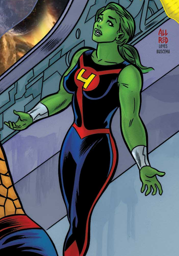 she hulk is all red in the FF she hulk is all red in the FF