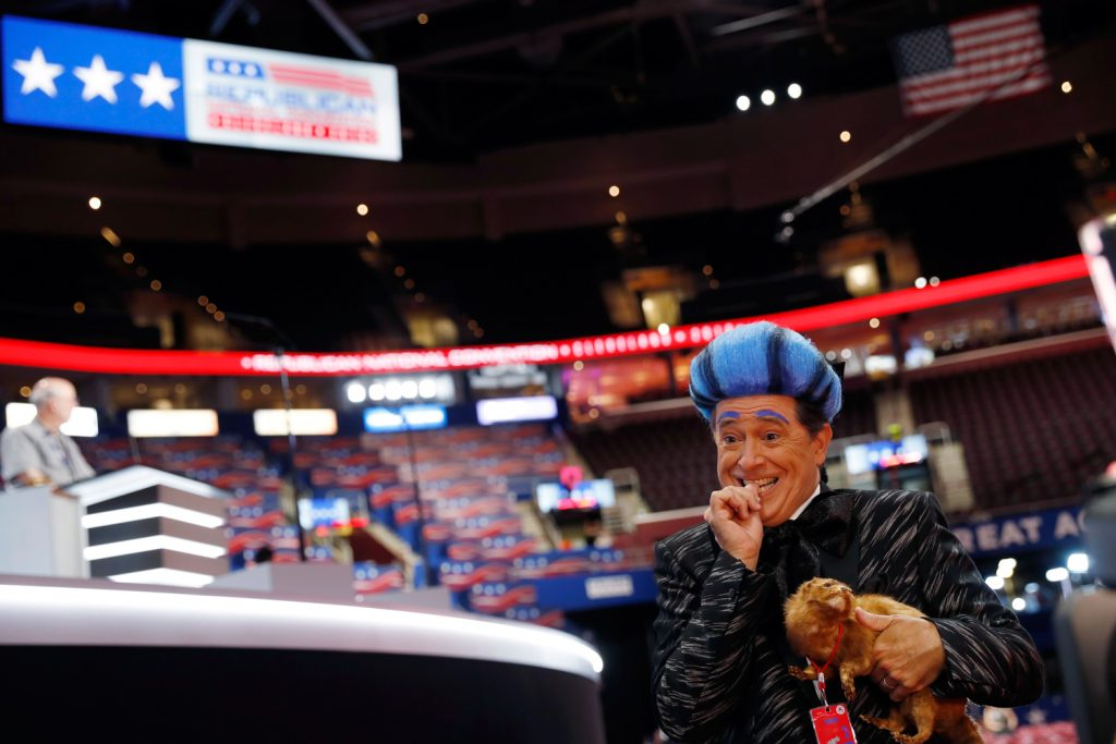 Stephen Colbert performs on the floor of the Republican National Convention 1024x683 Stephen Colbert performs on the floor of the Republican National Convention