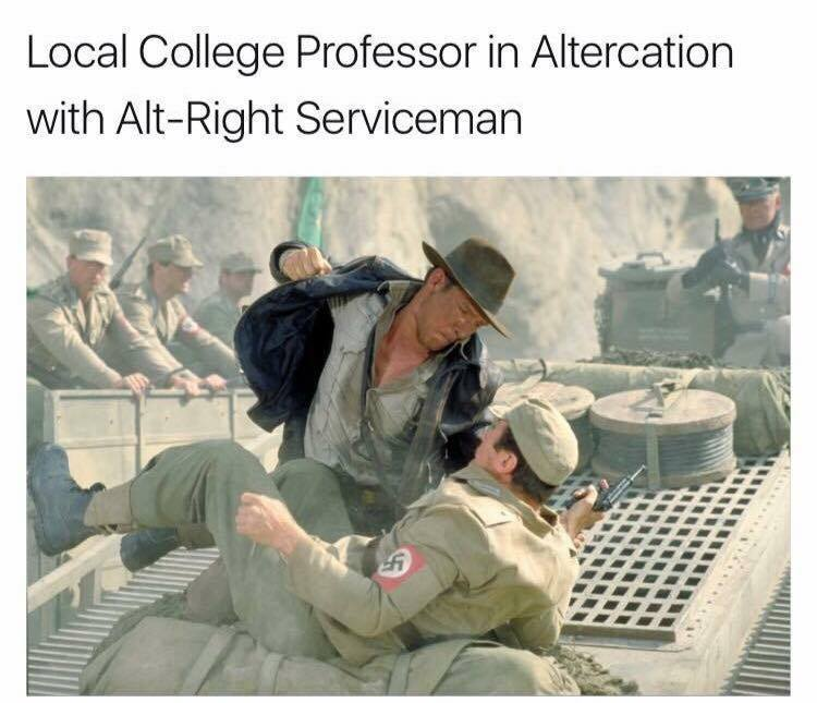 Altercation with Alt Right Serviceman Altercation with Alt Right Serviceman