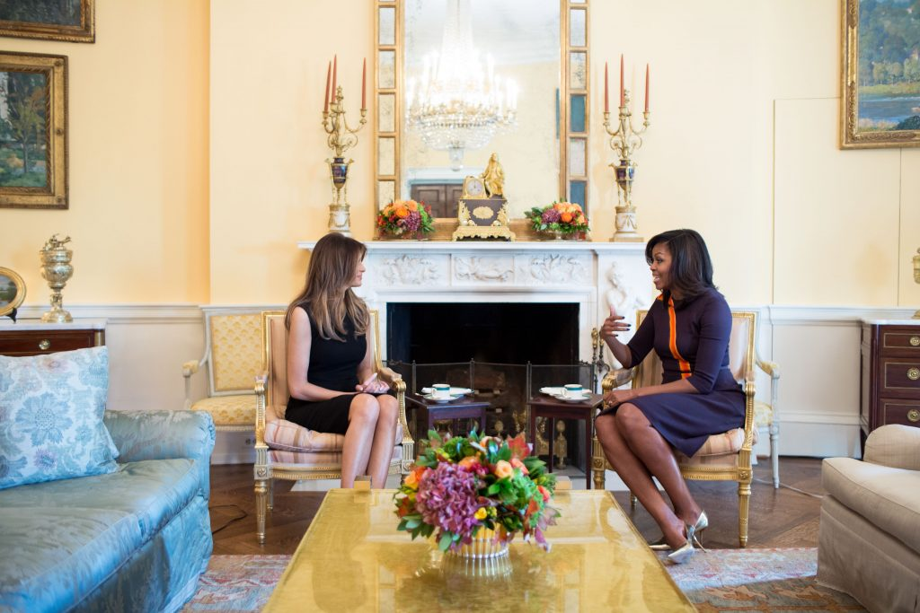 First Lady Michelle Obama meets with Melania Trump 1024x683 First Lady Michelle Obama meets with Melania Trump