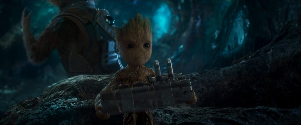 baby groot stealing a bomb 1024x427 baby groot stealing a bomb