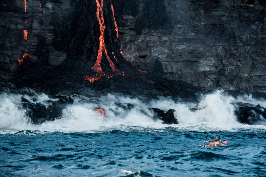 Alison Teal first woman to surf around an erupting volcano 1024x683 Alison Teal first woman to surf around an erupting volcano