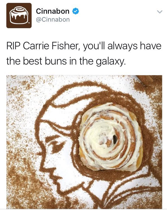 RIP Carrie Fisher, you had the best buns