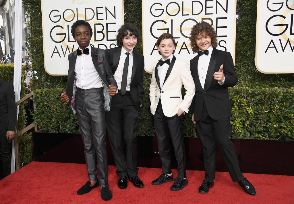Stranger Things Cast at the Golden Globes 1024x713 Stranger Things Cast at the Golden Globes