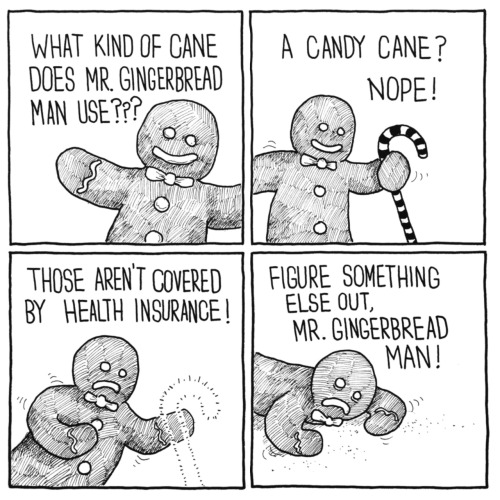 what kind of cane does Mr Gingerbread man use