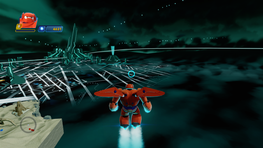 Baymax flying into Tron city 1024x576 Baymax flying into Tron city