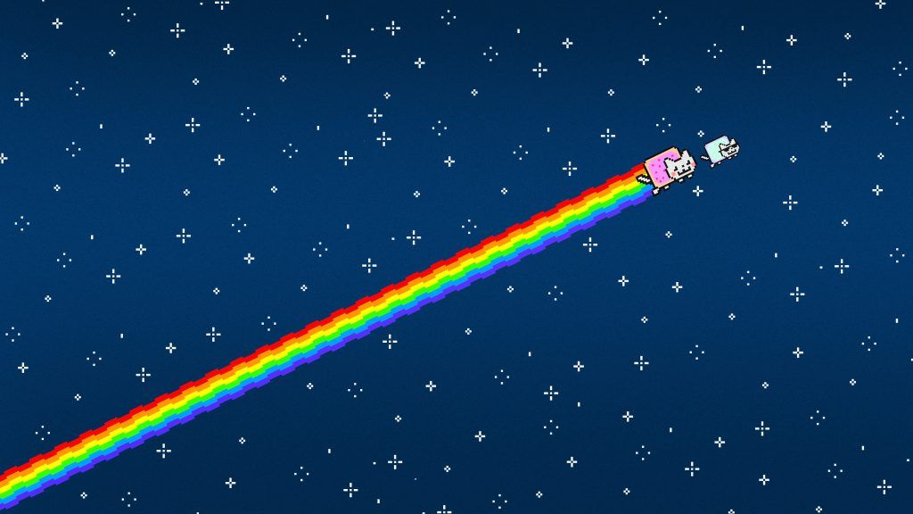 Nyan Cat goes to the side 1024x576 Nyan Cat goes to the side