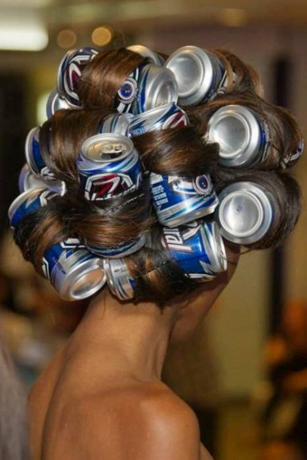 beer can hair do beer can hair do