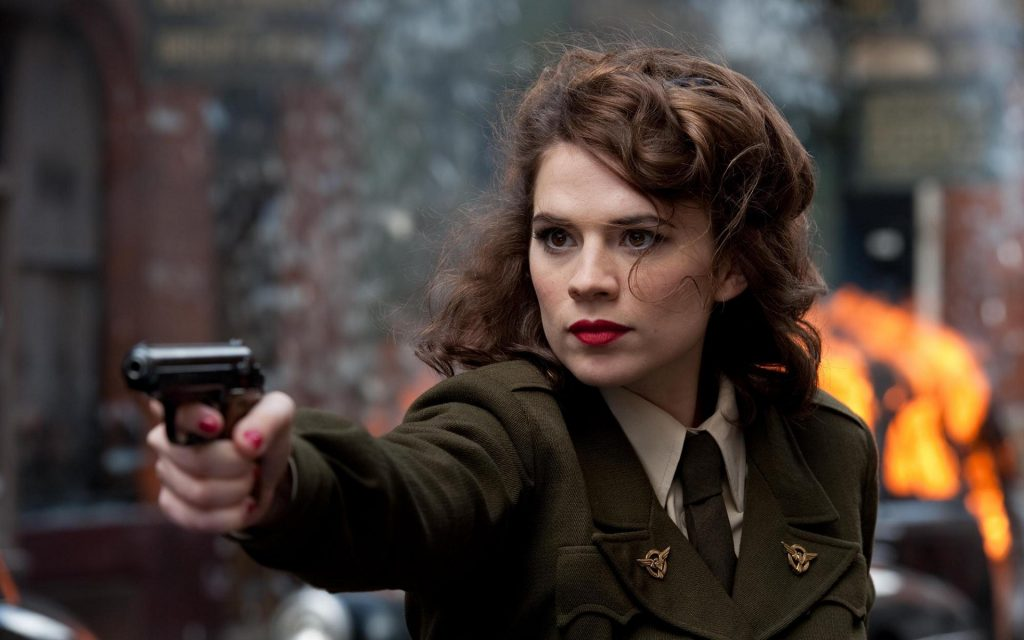 Agent Peggy Carter with a pistol 1024x640 Agent Peggy Carter with a pistol