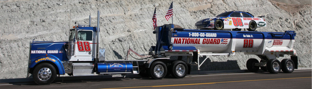 national guard truck and race car 1024x293 national guard truck and race car