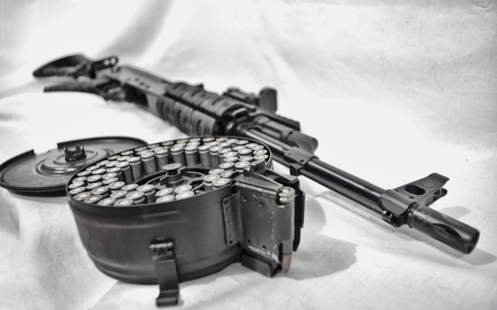 AK with ammo drum 1024x640 AK with ammo drum