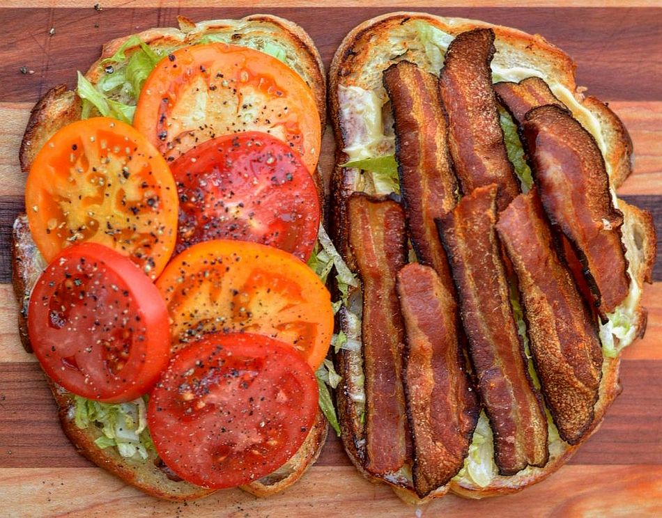 a very large BLT a very large BLT
