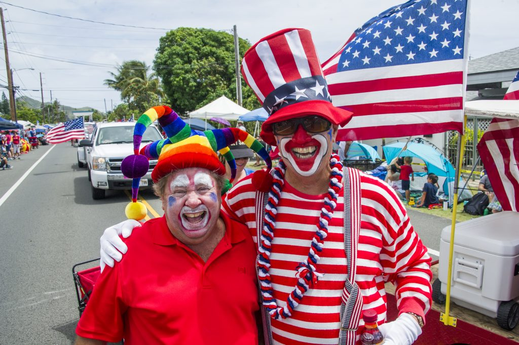 Two Scary Parade Clowns