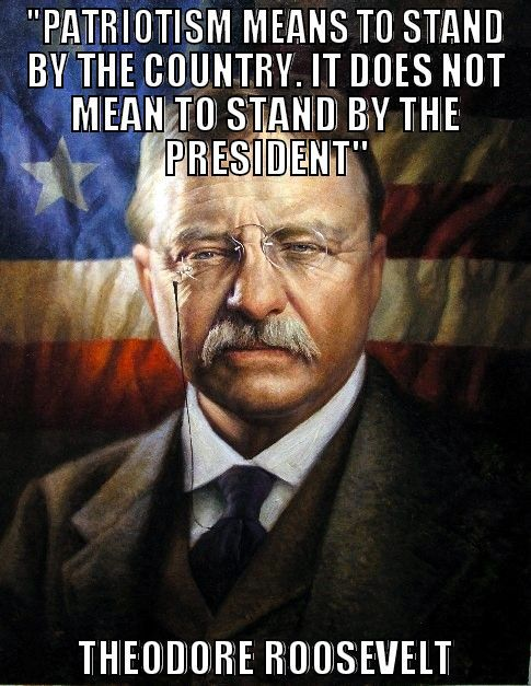 what patriotism means to Theodore Roosevelt