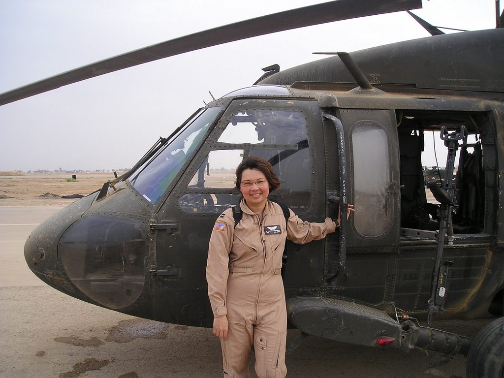 Tammy Duckworth flew a helicoptor