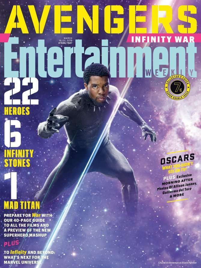EWAvengersIW BlackPan Entertainment Weekly   Avengers Infinity War Covers